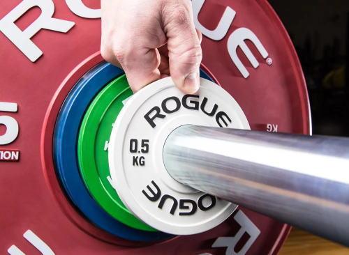 ROGUE FITNESS バーベル プレート オリンピックプレート バンパープレート クロスフィット オリンピックプレート 1.0KG ラバープレート 調整用プレート 【2枚一組】 Rogue Fitness フィジーク ボディビル 送料無料 【取寄せ】