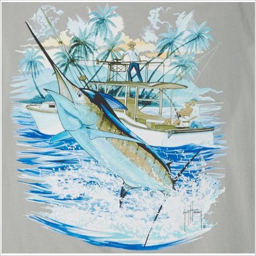 カジキTシャツ マーリンTシャツ 半袖Tシャツ 本場米国直輸入品 Marilin デザインTシャツ メンズTシャツ。