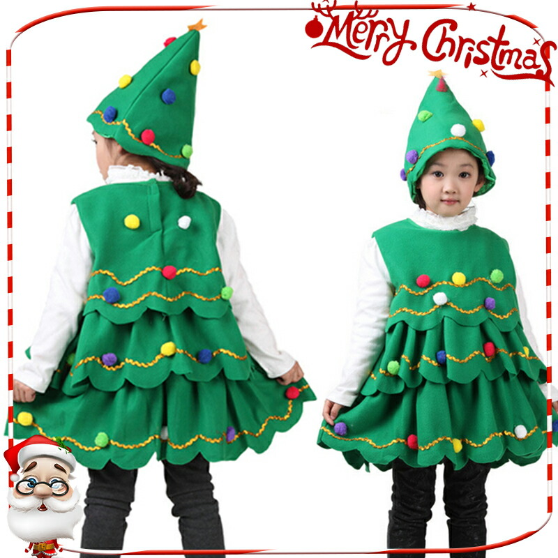Toddler Christmas Tree Costume.It Is The Child Girl Of The Child Kids Christmas Tree Costume Play Tree Clothes Costume Disguise Santa Santa Koss Santa Costume Play Santa Clothes