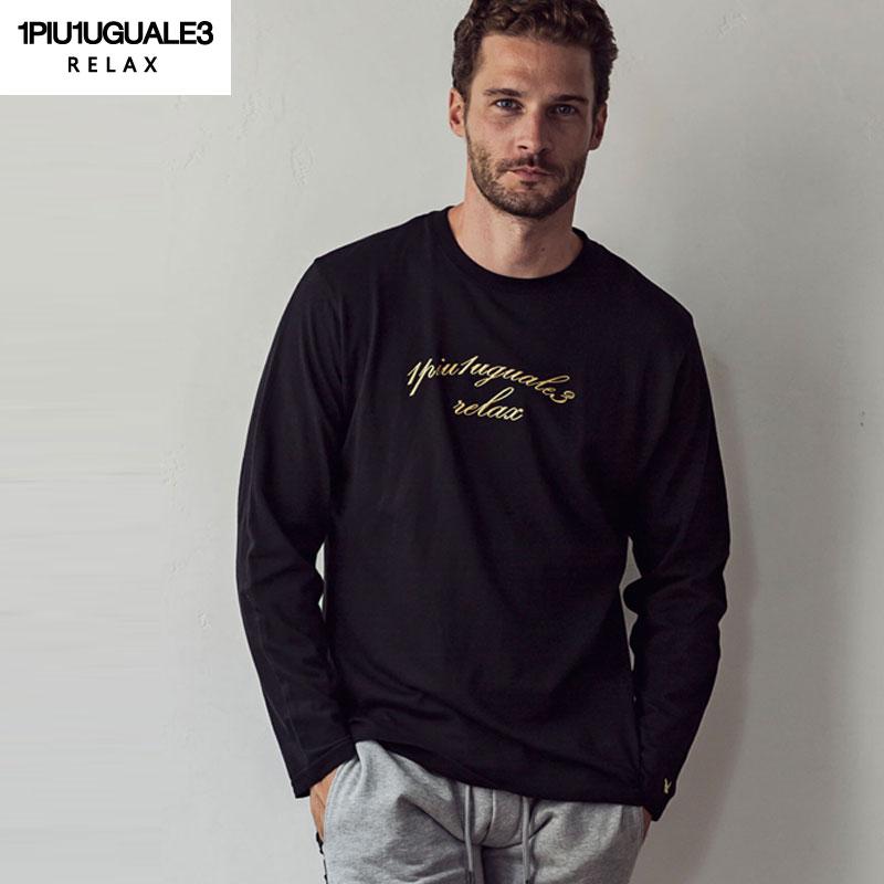 ゴールドプリント ロング Tシャツ