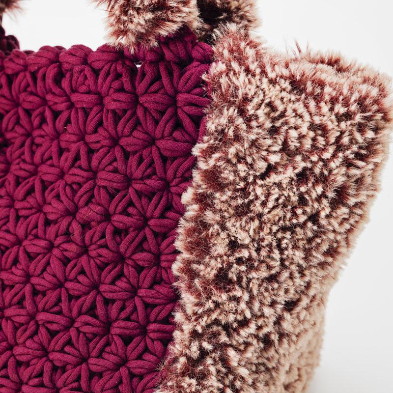 アトリエ K'sK 岡本啓子 かぎ針編み 棒針編み 手編みキット リフ編みトートバッグ