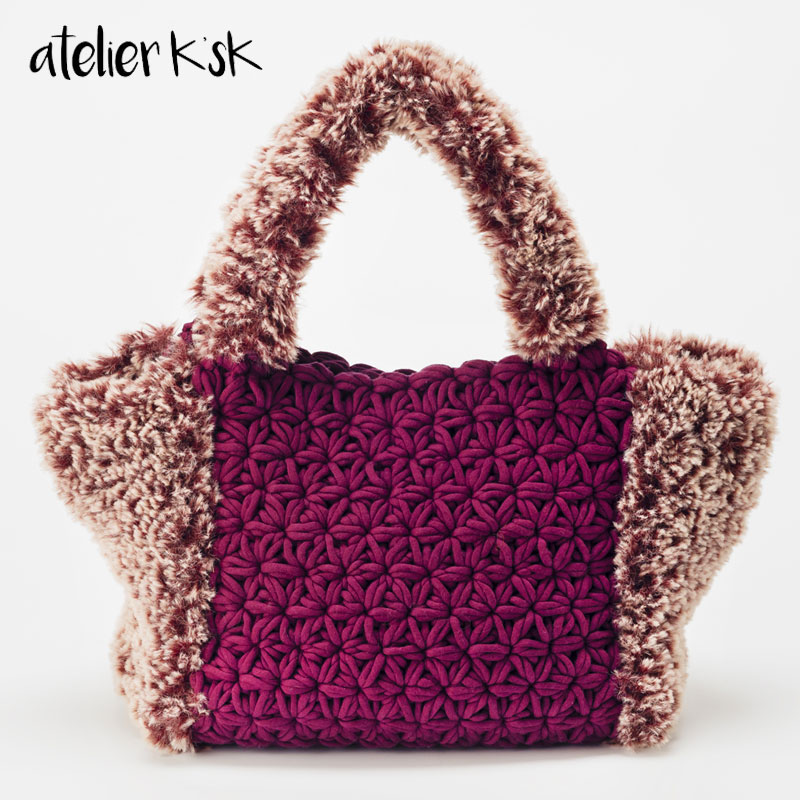 リフ編みトートバッグ