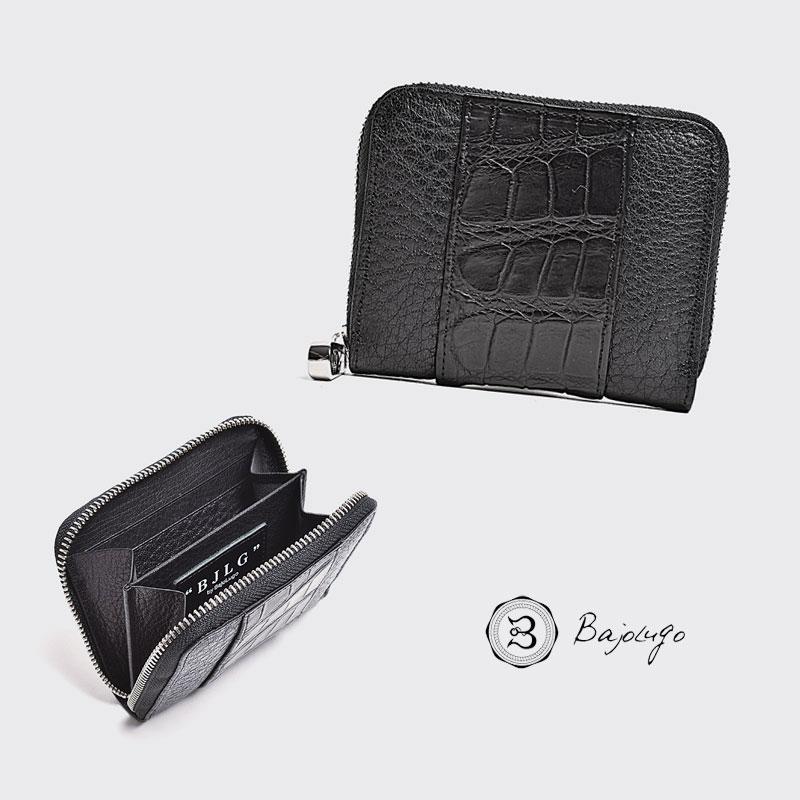 BajoLugo バジョルゴ コインケース BJLG バッファロー ブラック × 本クロコ ブラック