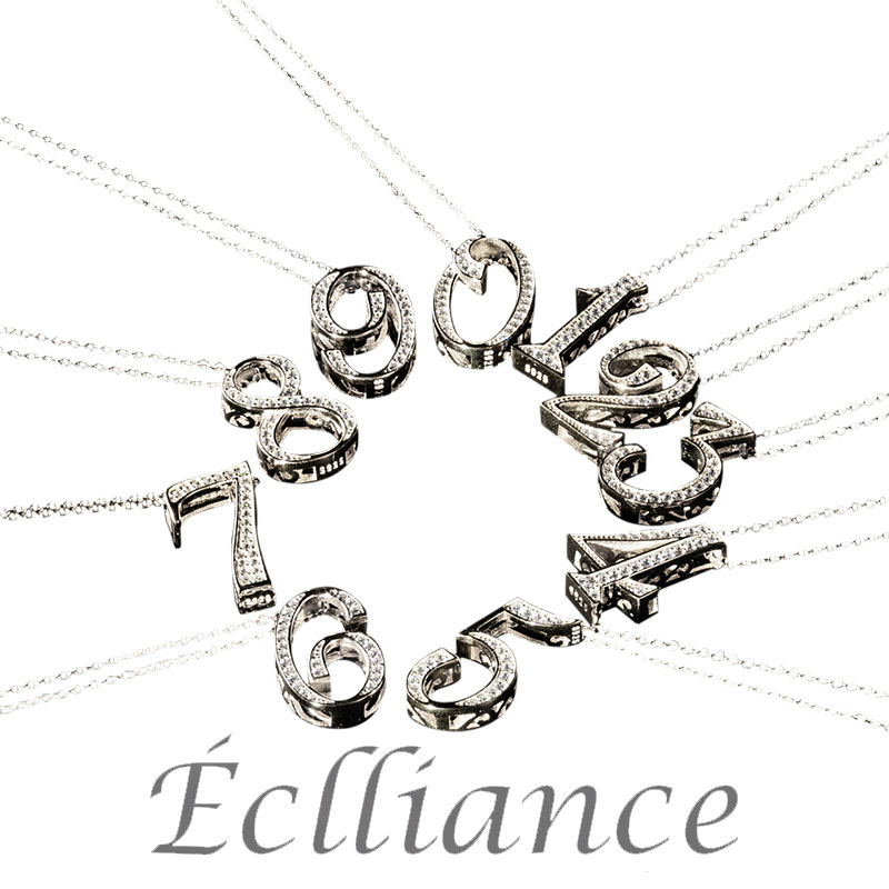 Eclliance エクリアンス ナンバーネックレス シルバー s925