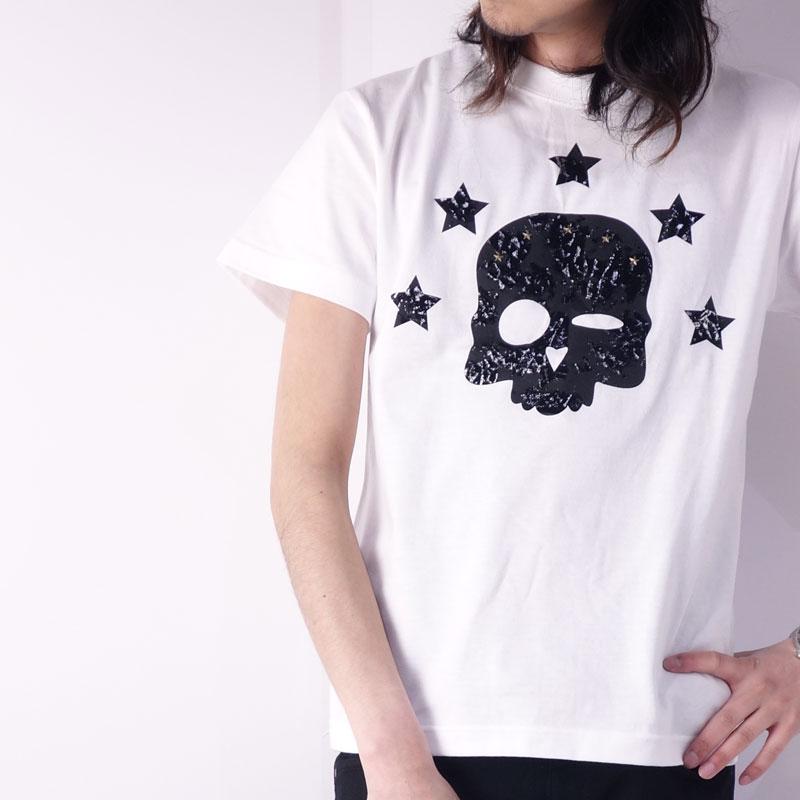 フロッキースカルTシャツ ホワイト