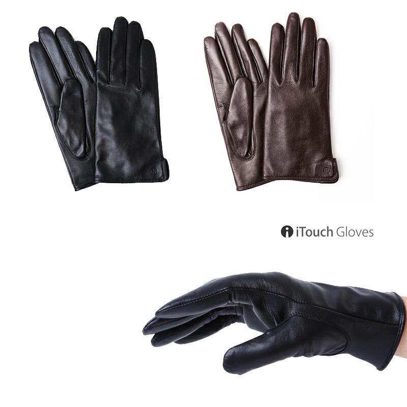 iTouch Gloves アイタッチグローブ ソリッドレザー 本革 手袋