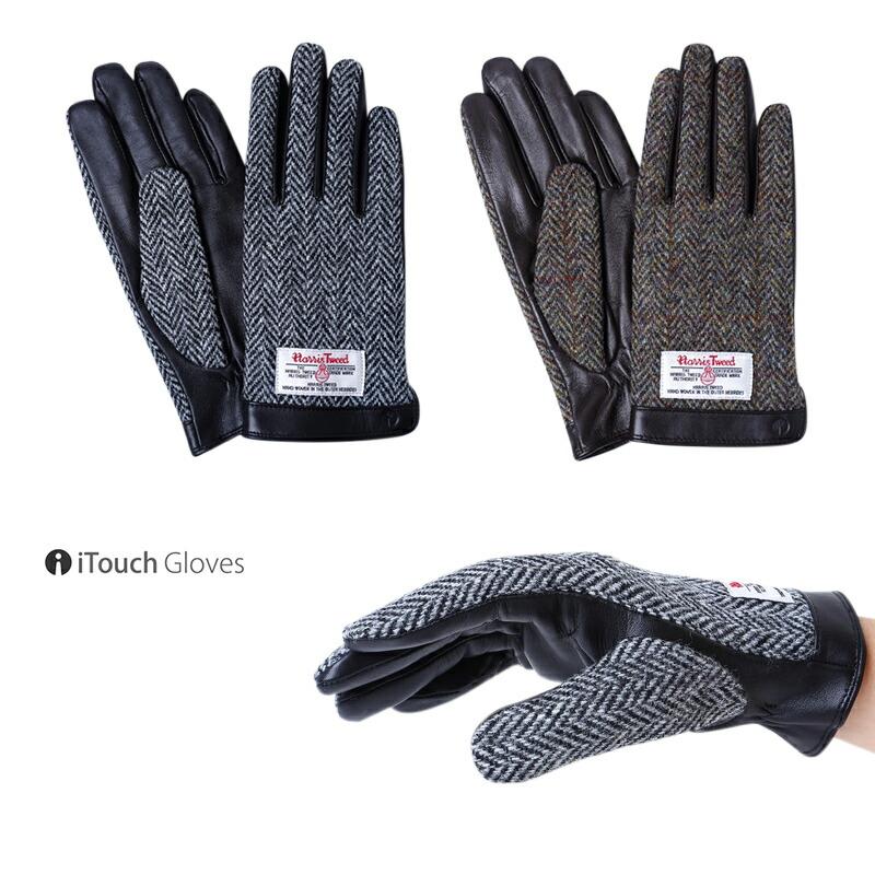 iTouch Gloves アイタッチグローブ  HARRIS TWEED ハリスツイード 本革 手袋