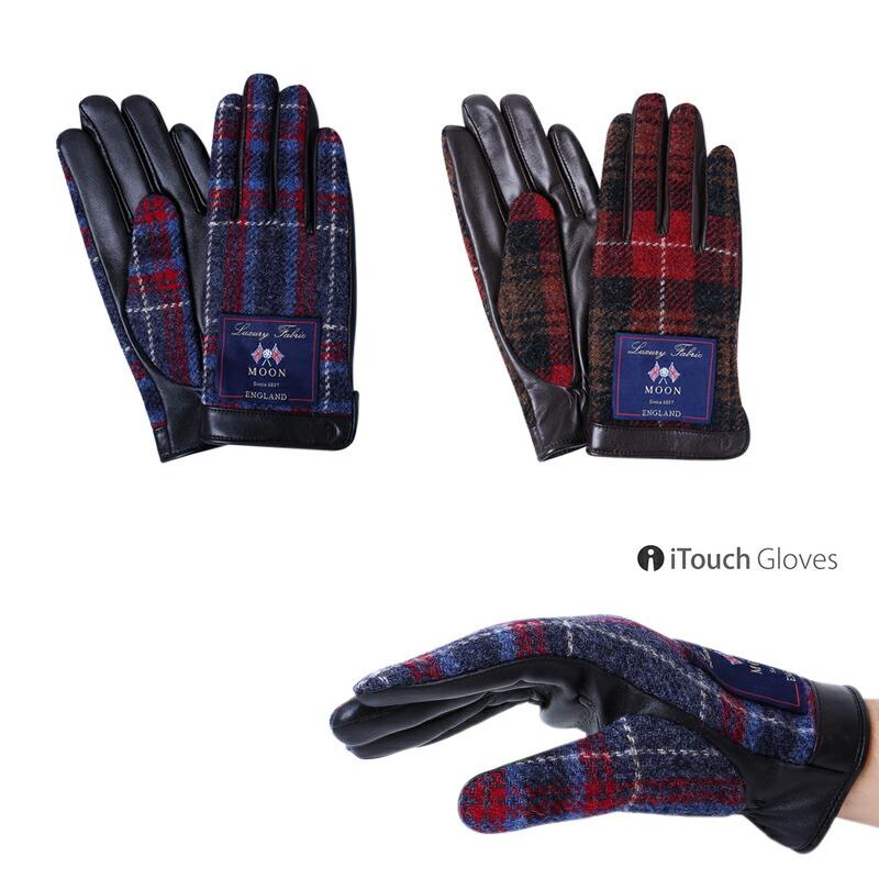 iTouch Gloves アイタッチグローブ  MOON イギリス 本革 手袋