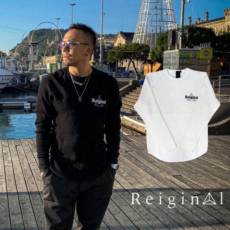 REIGINAL レイジナル ロゴ サーマル 長袖 Tシャツ