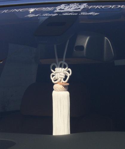 ジャンクションプロデュース JUNCTION PRODUCE ふさ FUSA JAPANESE 和 房 総 和モダン 菊結び 車用品 カー用品 白 ホワイト