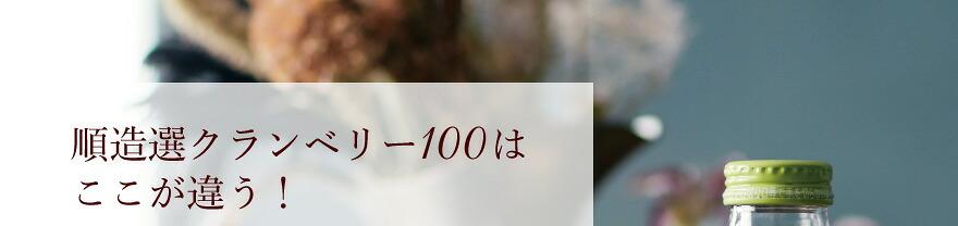 順造選クランベリー100はここが違う!