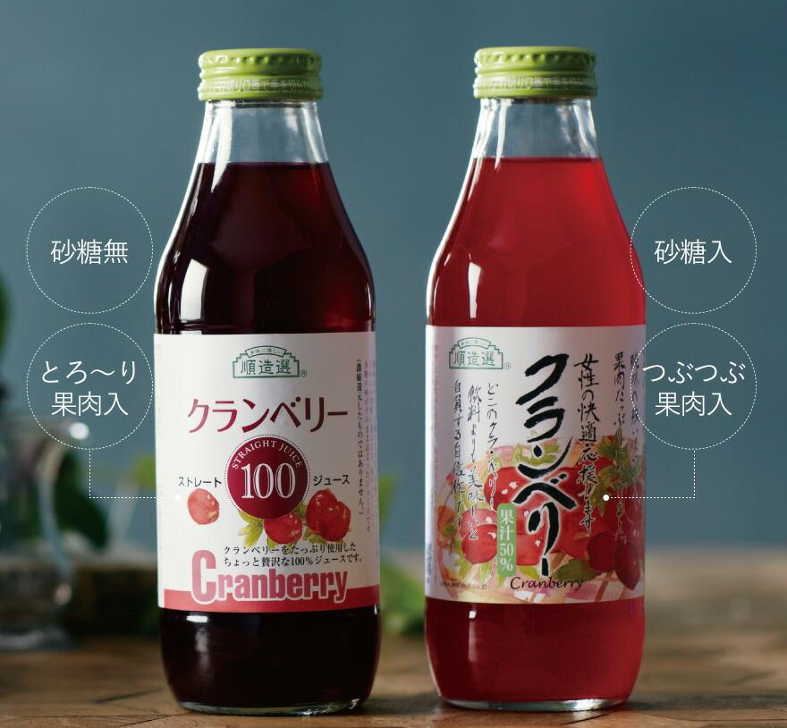 飲み比べできるクランベリー50%とのセットが初回限定2,000円