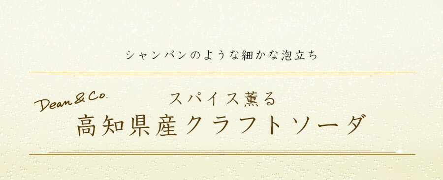 Dean&co. スパイス香る 高知県産クラフトソーダ