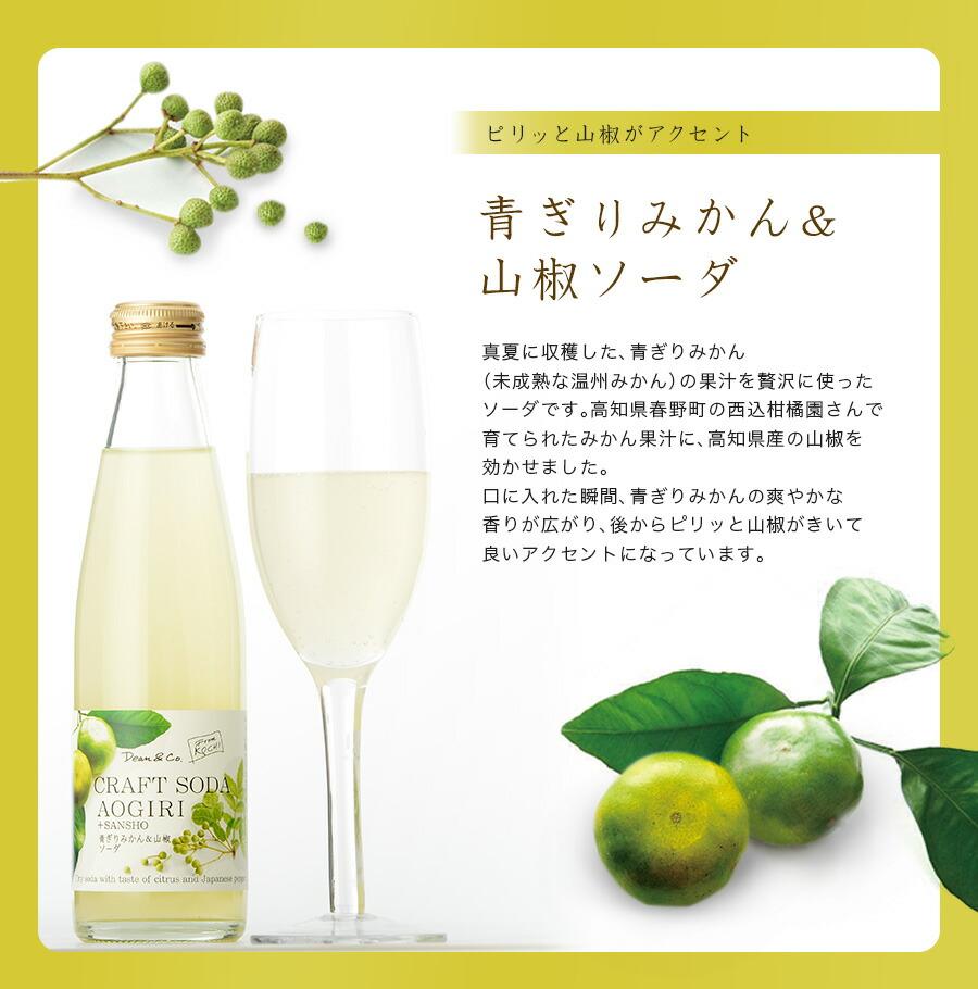 青ぎりみかん&山椒ソーダ