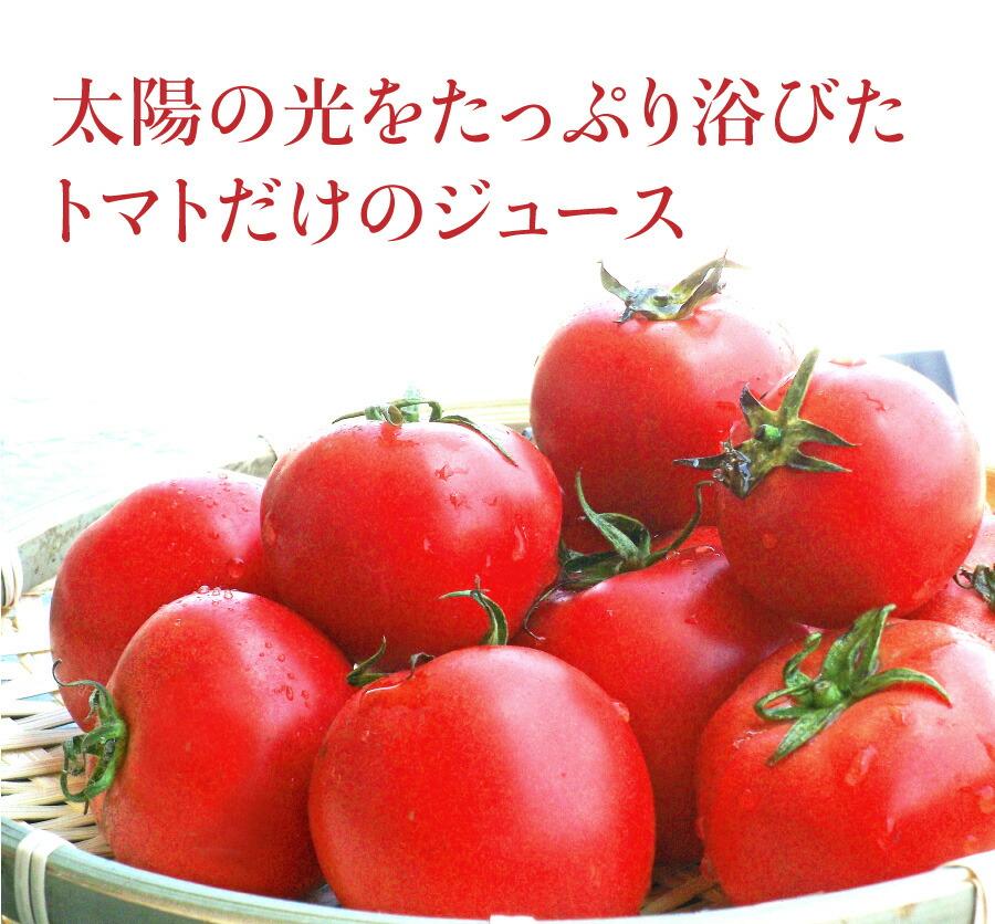 太陽の光をたっぷり浴びたトマトだけのジュース
