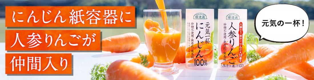 にんじん・人参りんご紙容器