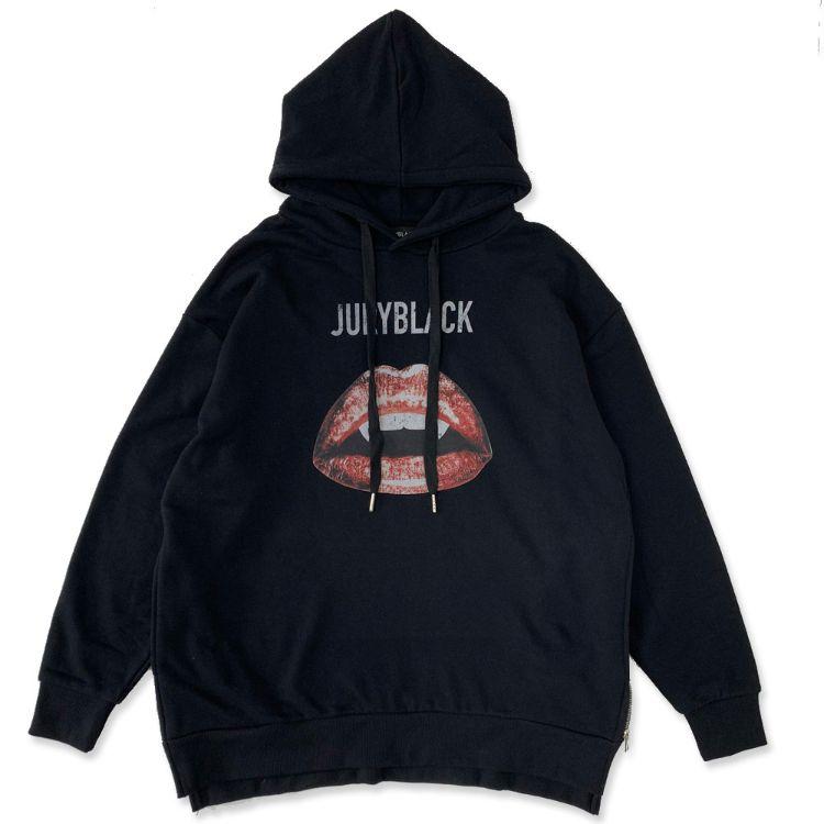 JURY BLACK ジュリーブラック シャツ サイドZIPリップパーカー