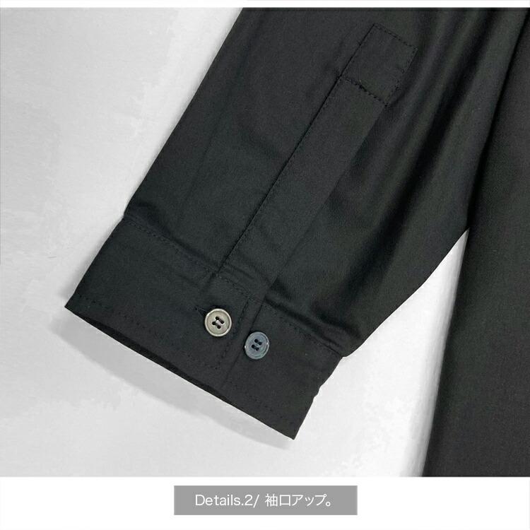 JURY BLACK ジュリーブラック シャツ ロゴプリントステンカラーシャツ