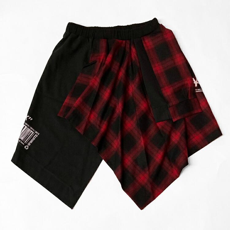 JURY BLACK ジュリーブラック スカート LOGO×CODEフェイク巻きスカート