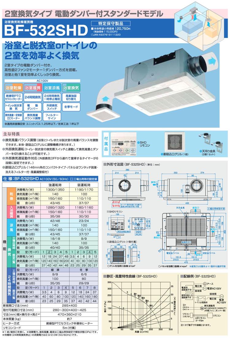 高須産業 浴室換気乾燥暖房機 BF-532SHD