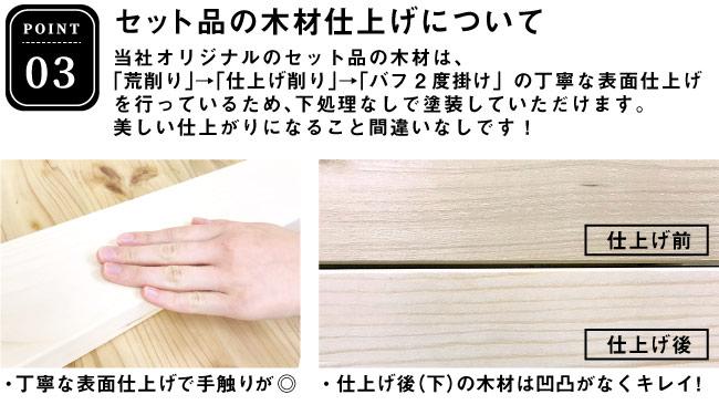 DIYテーブルキット 木材仕上げについて