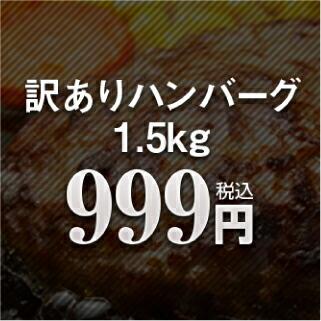 【訳あり】九州工場製造品 合挽き ふっくら ハンバーグ 1.5kg