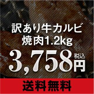 訳あり 九州産牛カルビ焼肉 1.2kg 600g×2袋