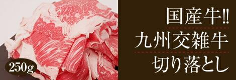 九州交雑牛切り落とし250g
