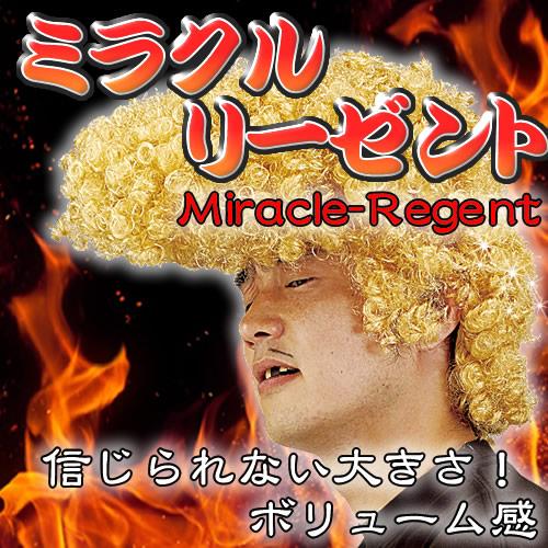 ミラクルリーゼント ゴールド 【カツラ コスプレ ヤンキ ツッパリ 仮装 変装