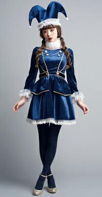 LLL amo lll amoちゃん ピエロ 道化師 衣装 コスチューム サーカス ハロウィン 女性 衣装