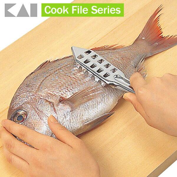 【貝印】 クックファイル CF ステンレスうろこ取り [調理器 キッチン 小物]【D】