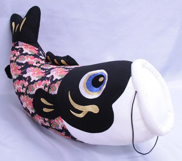 五月人形と飾る鯉のぬいぐるみ、ギフト、贈答品、お祝