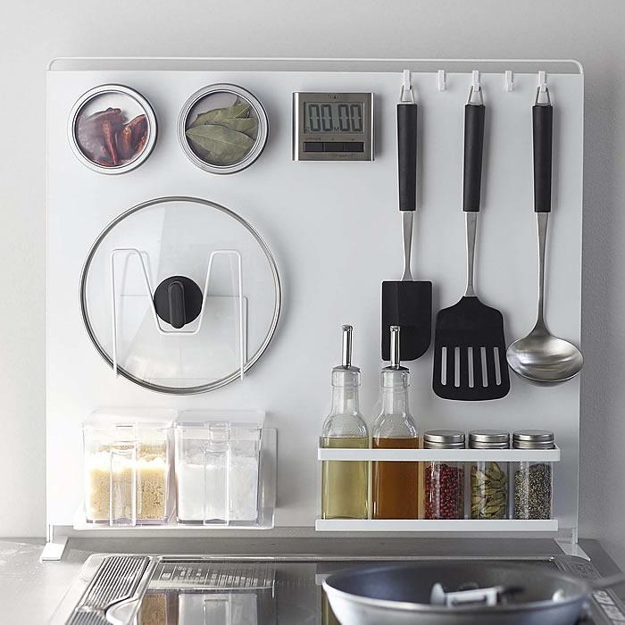 キッチン自立式スチールパネル縦型 Eセット