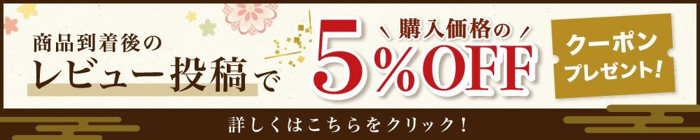 商品到着後のレビュー投稿で500円OFFクーポンプレゼント!