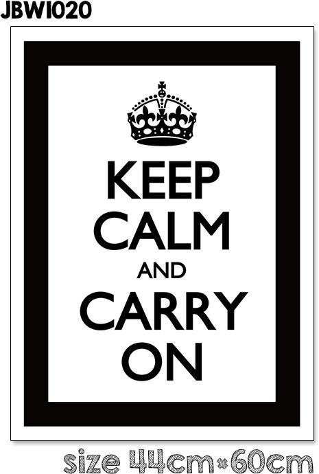 楽天市場 ウォールステッカー keep calm and carry on フレーム 北欧