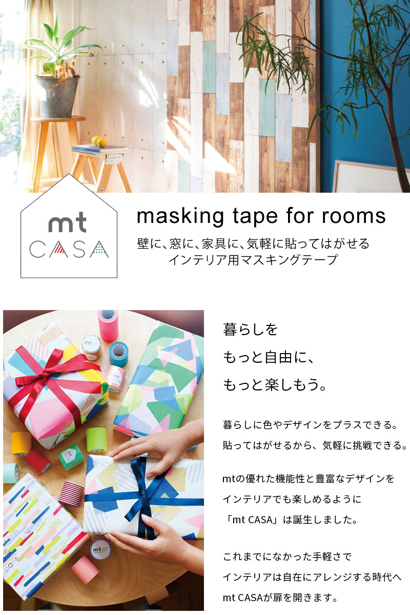 楽天市場 マスキングテープ 幅広 壁紙 シール 壁 壁用 家具用 木目 Mt