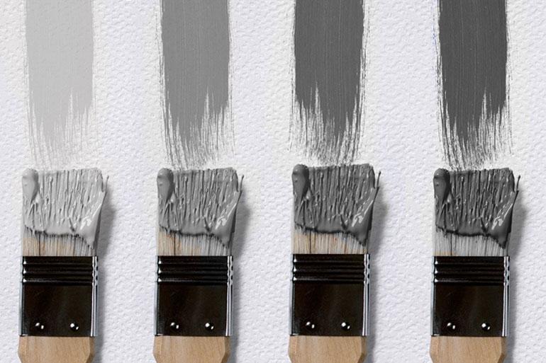 グレーのペンキを塗り比べてみました!