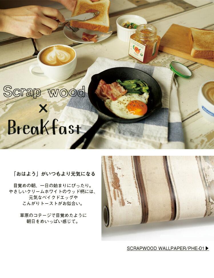 朝食と壁紙