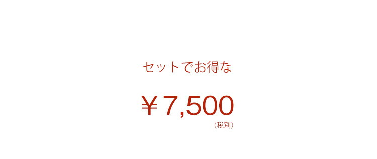 セットでお得な7500円
