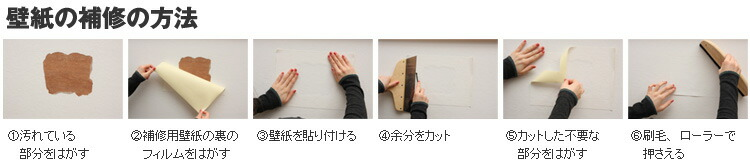 壁紙の補修方法