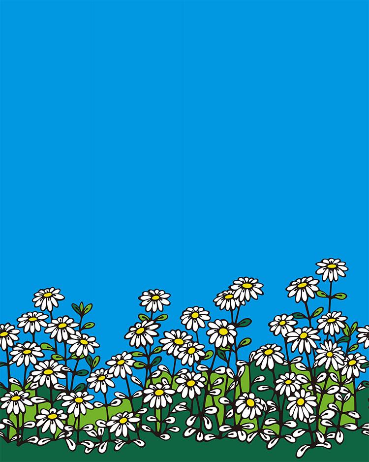 林雅彦DEKA / 花畑(4パネルセットで販売)