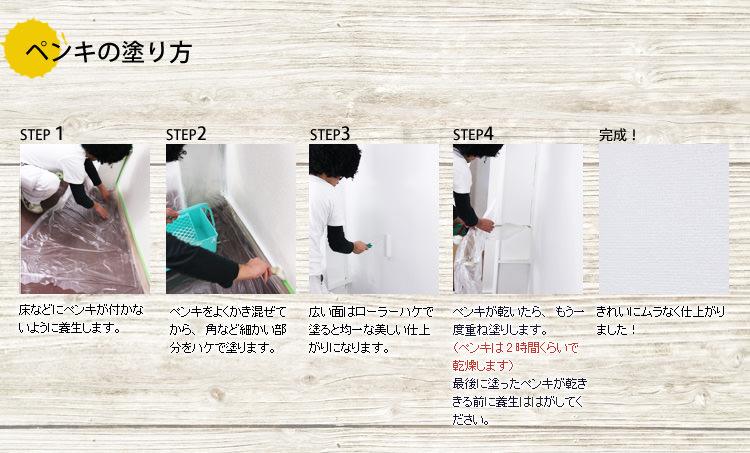 ペンキの塗り方