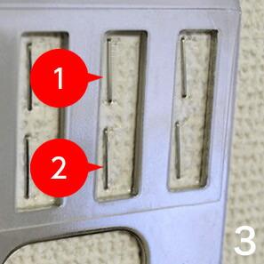 ホッチキスは1つの窓に対して2箇所打ちます。