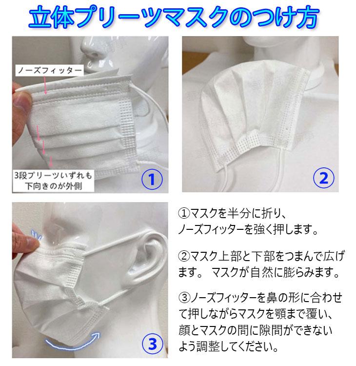 立体プリーツマスクのつけ方