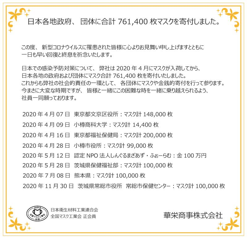 華栄商事株式会社の寄付事例