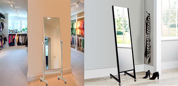 日本製 業務用 姿見、姿見鏡(キャスター付き、スタンド付き)参考写真