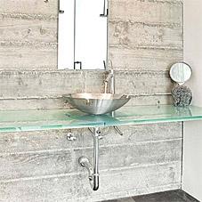 洗面台などの天板ガラス