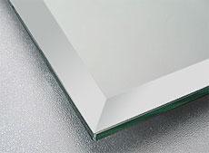 国産の鏡・板鏡(板厚 5ミリ) 15ミリ幅面取り加工(クリスタルカット)