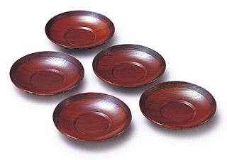木製の茶托セット