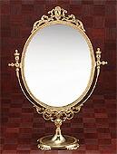 真鍮製・卓上鏡・スタンドミラー「g-6g7070k4」